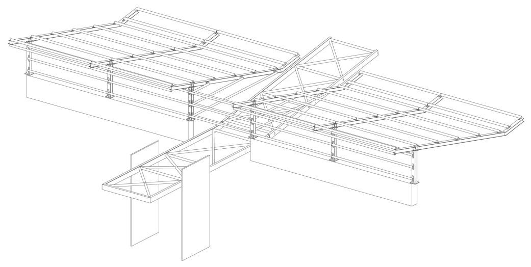 property management Figura 21 - Vista assonometrica della struttura di copertura della portineria centrale..jpg