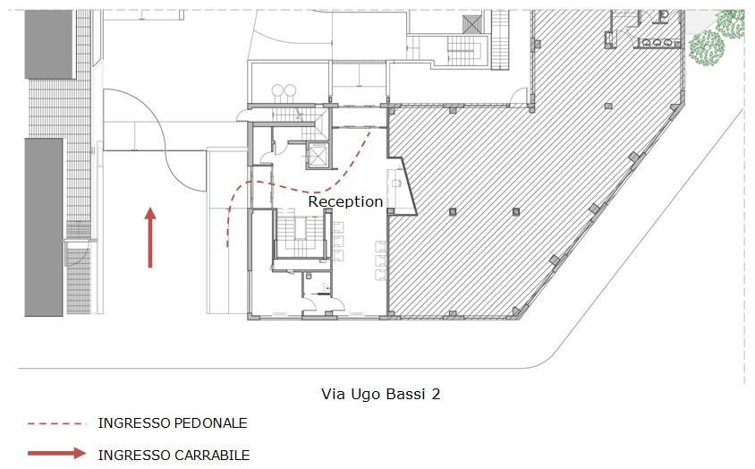 property management Figura 23 - Pianta piano terra dell'edificio di via Bassi, 2 adibito ad area conferenza..jpg