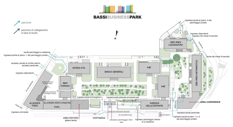 property management Figura 5 - Planimetria generale attuale del Bassi Business Park.jpg